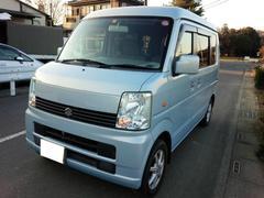 沖縄の中古車 スズキ エブリイワゴン 車両価格 49万円 リ済込 平成18年 9.6万K ライトブルー