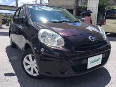 沖縄の中古車 日産 マーチ 車両価格 76万円 リ済別 平成23年 3.8万K ナイトベールパープルPM
