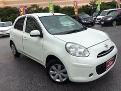 沖縄の中古車 日産 マーチ 車両価格 78万円 リ済別 平成24年 3.1万K ホワイトパール