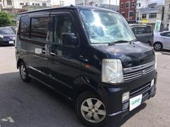 沖縄の中古車 スズキ エブリイワゴン 車両価格 59万円 リ済別 平成18年 10.4万K ブラック