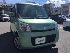 沖縄の中古車 スズキ スペーシア 車両価格 95万円 リ済別 平成25年 5.6万K Lグリーン