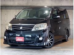 沖縄の中古車 トヨタ アルファードV 車両価格 112万円 リ済別 平成17年 10.6万K ブラックマイカ