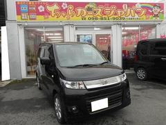 沖縄の中古車 スズキ ワゴンRスティングレー 車両価格 57.8万円 リ済込 平成23年 7.6万K ブラック