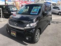 沖縄の中古車 ホンダ N−WGNカスタム 車両価格 115万円 リ済込 平成26年 4.6万K Dブラック