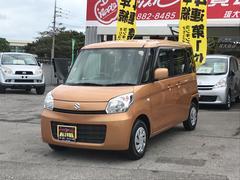 沖縄の中古車 スズキ スペーシア 車両価格 86万円 リ済込 平成26年 5.6万K オレンジM