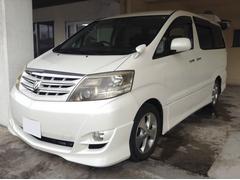 沖縄の中古車 トヨタ アルファードV 車両価格 59万円 リ済別 平成17後 12.2万K パールホワイト