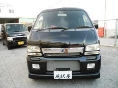 沖縄の中古車 スズキ エブリイワゴン 車両価格 24万円 リ済込 平成13年 15.7万K ブラック