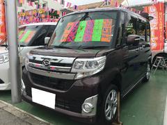沖縄の中古車 ダイハツ タント 車両価格 119万円 リ済別 平成25年 5.3万K プラムブラウンクリスタルマイカ