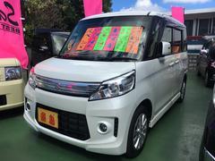 沖縄の中古車 スズキ スペーシアカスタム 車両価格 125万円 リ済別 平成25年 2.4万K パールホワイト