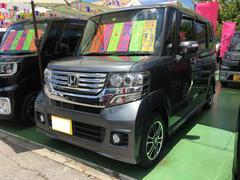 沖縄の中古車 ホンダ N BOXカスタム 車両価格 119万円 リ済別 平成25年 3.2万K ポリッシュドメタルメタリック