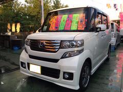 沖縄の中古車 ホンダ N BOXカスタム 車両価格 119万円 リ済別 平成25年 3.6万K プレミアムホワイトパールII