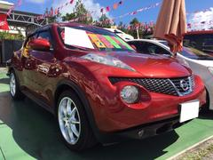 沖縄の中古車 日産 ジューク 車両価格 98万円 リ済別 平成23年 7.2万K アカ
