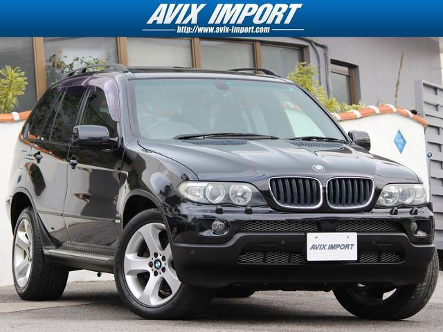 BMW X5 3.0iスポーツPKG最終 パノラマ黒革 HDD地デ...