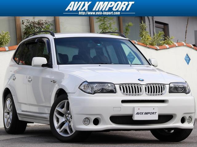 BMW X3 2.5i HAMANNStyle 黒革 HDD地デジ...