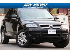VW トゥアレグV6エアサス SR 黒革 社外HDD地デジBカメラ 腰下同色
