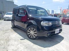 沖縄の中古車 日産 キューブ 車両価格 55万円 リ済込 平成21年 8.1万K ブラックM
