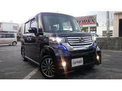 沖縄の中古車 ホンダ N BOXカスタム 車両価格 98万円 リ済込 平成24年 6.3万K ブラック