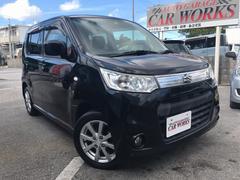 沖縄の中古車 スズキ ワゴンRスティングレー 車両価格 58万円 リ済込 平成25年 9.2万K ブラック