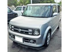沖縄の中古車 日産 キューブ 車両価格 18万円 リ済込 平成17年 14.9万K シルバー