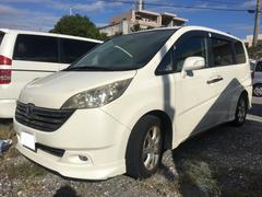 沖縄の中古車 ホンダ ステップワゴン 車両価格 37万円 リ済込 平成18年 11.2万K プレミアムホワイトパール