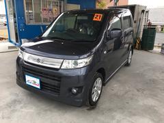 沖縄の中古車 スズキ ワゴンRスティングレー 車両価格 50万円 リ済込 平成21年 9.5万K ダークグレーII