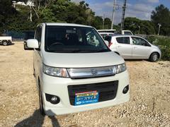 沖縄の中古車 スズキ ワゴンRスティングレー 車両価格 38万円 リ済込 平成23年 13.4万K パールホワイト