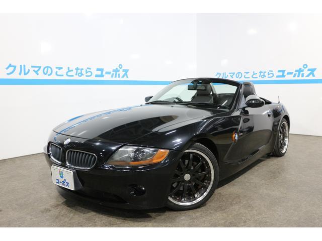 BMW Z4 2.2i 黒革シート WORK18インチアルミホイー...
