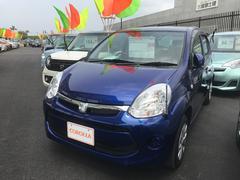 沖縄の中古車 トヨタ パッソ 車両価格 118万円 リ済別 平成28年 0.2万K ブルー