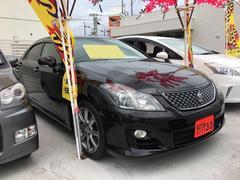 沖縄の中古車 トヨタ クラウン 車両価格 99万円 リ済込 平成20年 15.6万K ブラック
