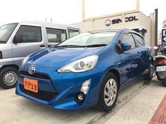 沖縄の中古車 トヨタ アクア 車両価格 115万円 リ済込 平成27年 2.7万K ブルー