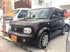 沖縄の中古車 日産 キューブ 車両価格 29万円 リ済込 平成20年 9.1万K Dブラウン
