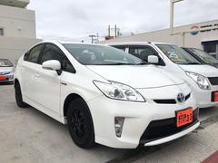 沖縄の中古車 トヨタ プリウス 車両価格 99万円 リ済込 平成25年 9.1万K ホワイト