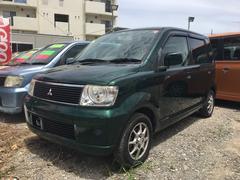 沖縄の中古車 三菱 eKワゴン 車両価格 15万円 リ済込 平成14年 8.1万K グリーン