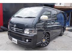 沖縄の中古車 トヨタ ハイエースバン 車両価格 128万円 リ済込 平成18年 14.1万K ブラック