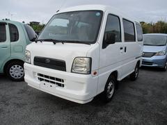 沖縄の中古車 スバル サンバーバン 車両価格 32.8万円 リ済込 平成17年 9.0万K ホワイト