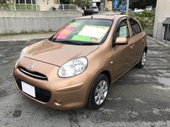 沖縄の中古車 日産 マーチ 車両価格 35万円 リ済別 平成22年 8.2万K ゴールド