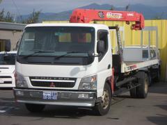 キャンター超々ロング 積載車 ラジコン3段クレーン 荷台5.9m