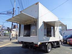 キャンター 全低床 キッチンカー 移動販売車 冷蔵庫 三槽シンク 換気扇(三菱ふそう)