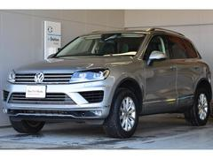 VW トゥアレグV6アップグレードパッケージ ナビ 黒革内装 延長保証付