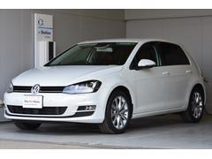 VW ゴルフTSIハイライン ナビ OP色 茶革 後方安全付 認定中古車