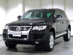 VW トゥアレグV6 黒革 HDDナビTV 後期型 認証整備付