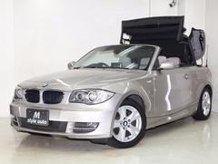 BMW120i カブリオレ ベージュ本革 HDDナビ 禁煙1オーナ
