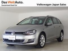 VW ゴルフヴァリアントTSIハイライン 純正ナビ Rカメラ 黒レザー 認定中古車