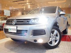 VW トゥアレグブラウンレザー 純正HDDナビ 全方位カメラ