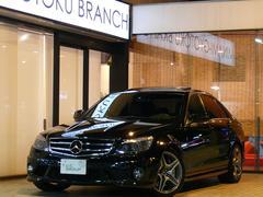 M・ベンツC63AMG 正規D車 黒革 SR HDDナビ 2年保証付