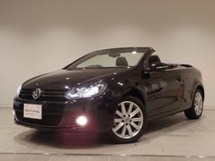 VW ゴルフカブリオレ認定中古車保証 ベースグレード 純正SDナビ 黒革 ETC
