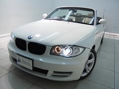 BMW120iカブリオレ禁煙車ベージュ革iDriveHDDナビ黒幌