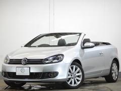VW ゴルフカブリオレ電動オープン 黒革 地デジBカメ パドル キセノン 1年保証