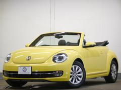 VW ザ・ビートル・カブリオレ電動開閉ソフトトップ 黒革 地デジナビ クルコン 2年保証