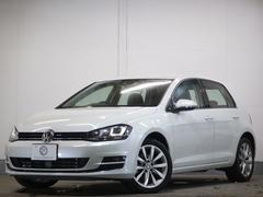 VW ゴルフTSIハイライン レザーP新車保証1オナ 茶革ディスカバナビ